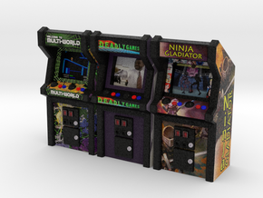 Row of Arcade Games #2, 35mm in Full Color Sandstone