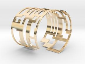 QR Cuff in 14k Gold Plated Brass