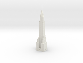 Chrysler Building (1:2000) in White Natural Versatile Plastic