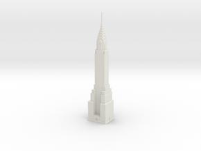 Chrysler Building (1:2000) in White Natural Versatile Plastic