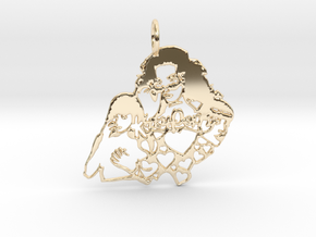 Katy Perry Fan Pendant in 14K Yellow Gold: Large