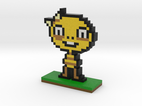 Undertale Monster Kid Pixel Art in Full Color Sandstone