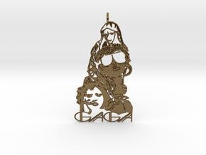 Lady Gaga Pendant - Exclusive Jewellery in Polished Bronze