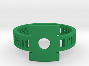 Green Lantern Oath Ring in Green Processed Versatile Plastic: 12.25 / 67.125