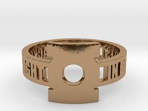 Green Lantern Oath Ring in Polished Brass: 12.25 / 67.125