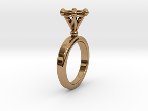 Ring Byzantinium in Polished Brass: 5.5 / 50.25