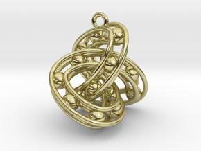 Trefoil-Parametrisch-Sieraad-Square in 18k Gold Plated Brass