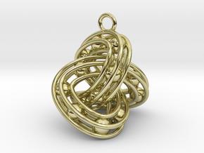Trefoil-Parametrisch-Penta in 18k Gold Plated Brass