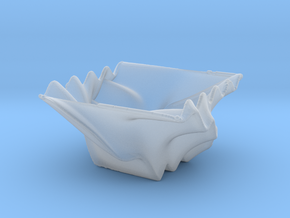 Waved Bowl 3 in Smooth Fine Detail Plastic