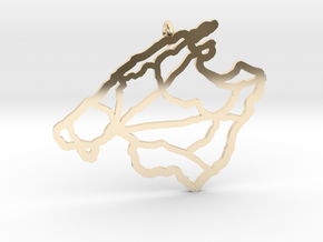 Mallorca Pendant in 14k Gold Plated Brass