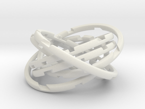 WASP Coaster in White Natural Versatile Plastic