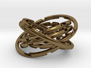 WASP Coaster in Polished Bronze (Interlocking Parts)