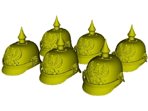 1/16 scale German pickelhaube helmets x 6 in Smooth Fine Detail Plastic