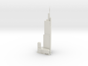 Zifeng Tower (1:2000) in White Natural Versatile Plastic