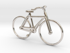 Bicycle Jewel in Rhodium Plated Brass
