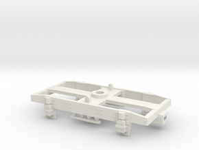 GW 9' Plate Frame Bogie Airfix Fit  in White Natural Versatile Plastic