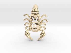 The Parallelkeller scorpio v02 in 14k Gold Plated Brass