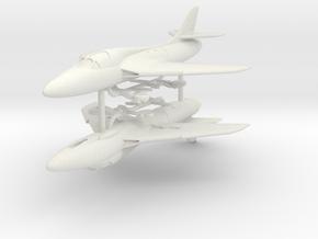 1/200 Hawker Hunter T.7 (x2) in White Natural Versatile Plastic