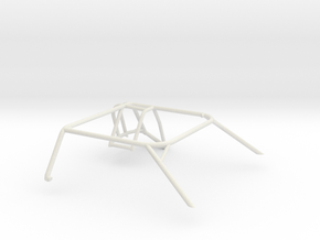 1/25 Slot Car Generic Roll Cage in White Natural Versatile Plastic