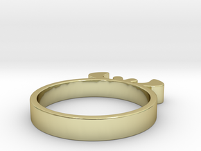 Simple Ring 15.70 U.K. Size J1/2 or US size 5 in 18k Gold