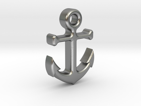 Anchor in Natural Silver