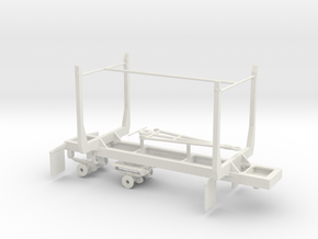1/50th Mule Train 20' Short log pup trailer in White Natural Versatile Plastic