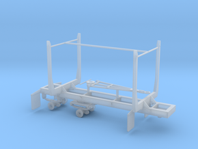 1/50th Mule Train 20' Short log pup trailer in Smooth Fine Detail Plastic