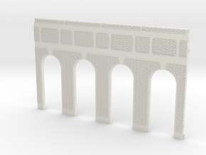 NGG-Mext01a - Large Railway Station in White Natural Versatile Plastic