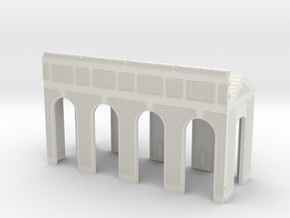 NGG-BVA01a - Large Railway Station in White Natural Versatile Plastic