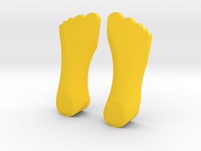 FIVE FINGER SHOES (A.K.A.) FIVE FINGER FUNK in Yellow Strong & Flexible Polished: 1:10