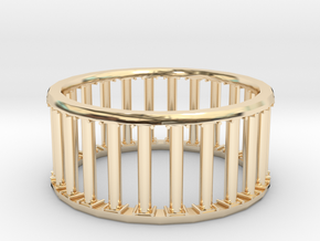 Greek/Roman Pillar Ring in 14K Yellow Gold