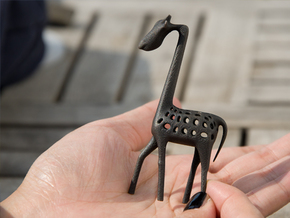 Giraffe in Matte Black Steel