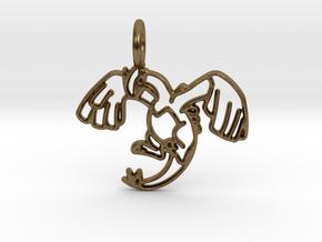 Lugia Pendant - Legendary Pokemon in Natural Bronze