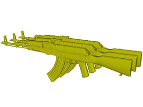 1/48 scale Avtomat Kalashnikova AK-47 rifles x 3 in Smoothest Fine Detail Plastic