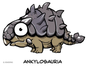 Breedingkit Ankylosaurus in Full Color Sandstone