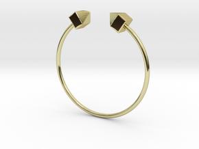 2 Houses Bracelet Medium Size D=65mm in 18k Gold Plated Brass: Medium