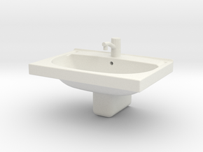 Printle Thing Lavabo 1/24 in White Natural Versatile Plastic