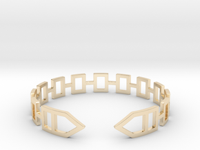 2D Houses  Bracelet Medium Size D=65mm in 14K Yellow Gold: Medium