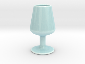 Wineglass Mug in Gloss Celadon Green Porcelain