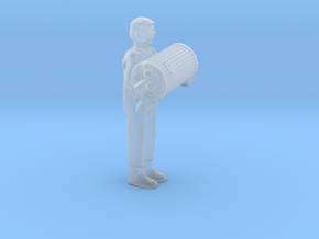 O Scale Garbage Man w Trash Can, Full in Smooth Fine Detail Plastic