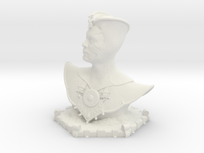 Buste of a Mage in White Natural Versatile Plastic