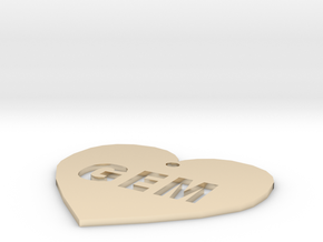 """Heart Name Tag Extra Large (3"""") in 14K Yellow Gold"""