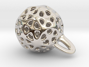 P-funny jewel in Rhodium Plated Brass