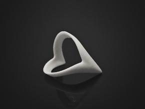 Wish-Bone Ring (v1.2) in White Strong & Flexible: 6.5 / 52.75