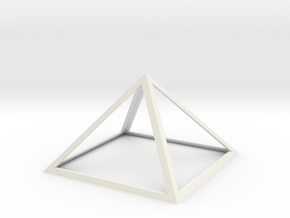 "Perfect Pyramid 18 INCH 51°51""14"" in White Natural Versatile Plastic"
