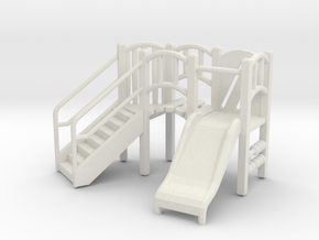 Playground Equipment 01. 1:48 Scale  in White Strong & Flexible