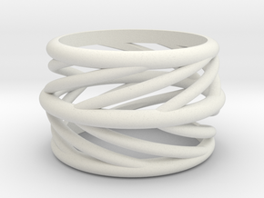 Silvia Swirl Ring in White Natural Versatile Plastic: 6 / 51.5