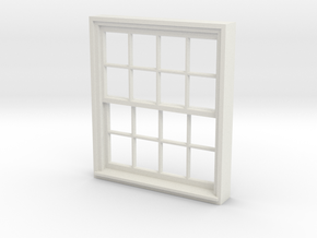Window, 52in X 60in, 16 Panes, 1/32 Scale in White Strong & Flexible