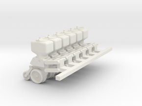 5100 6 units with parallel arms 3/4 down position  in White Strong & Flexible