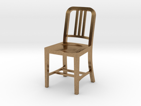 1:24 Metal Chair in Natural Brass